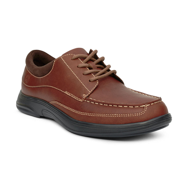 Anodyne Men's No.30 Casual Dress Diabetic Shoe, Chestnut - Main Image