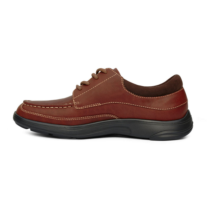 Anodyne Men's No.30 Casual Dress Diabetic Shoe, Chestnut - Left Image