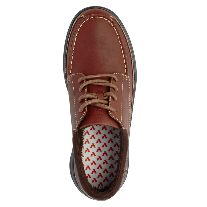 Anodyne Men's No.30 Casual Dress Diabetic Shoe, Chestnut - Top Image