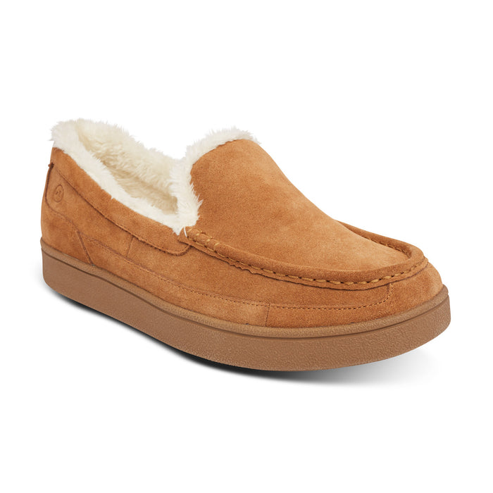 Anodyne Men's No. 34 Diabetic Therapeutic Moc Toe Slipper, Camel: Main Image