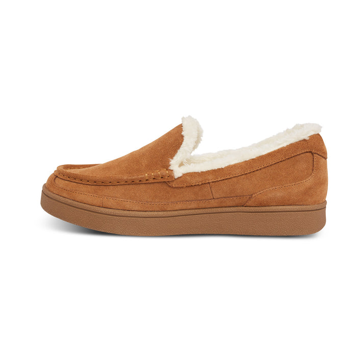 Anodyne Men's No. 34 Diabetic Therapeutic Moc Toe Slipper, Camel: Left Side Image