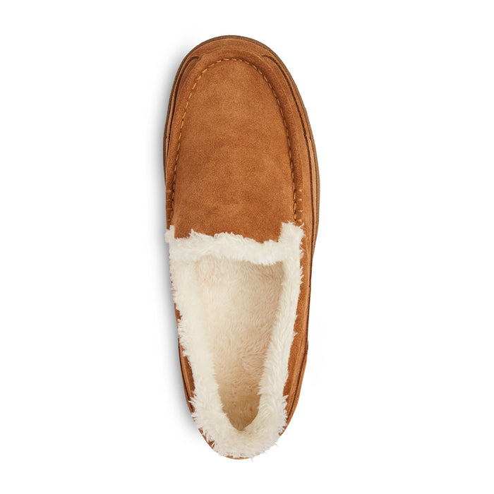 Anodyne Men's No. 34 Diabetic Therapeutic Moc Toe Slipper, Camel: Top Image