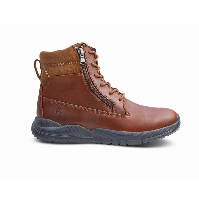 Anodyne Men's No.90 Diabetic Therapeutic Trail Worker, Whiskey - Side Image