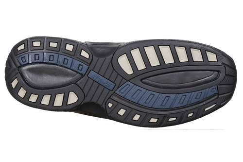 OrthoFeet Men's Alpine, Gray Diabetic Therapeutic Orthotic Sandals - Sole Image