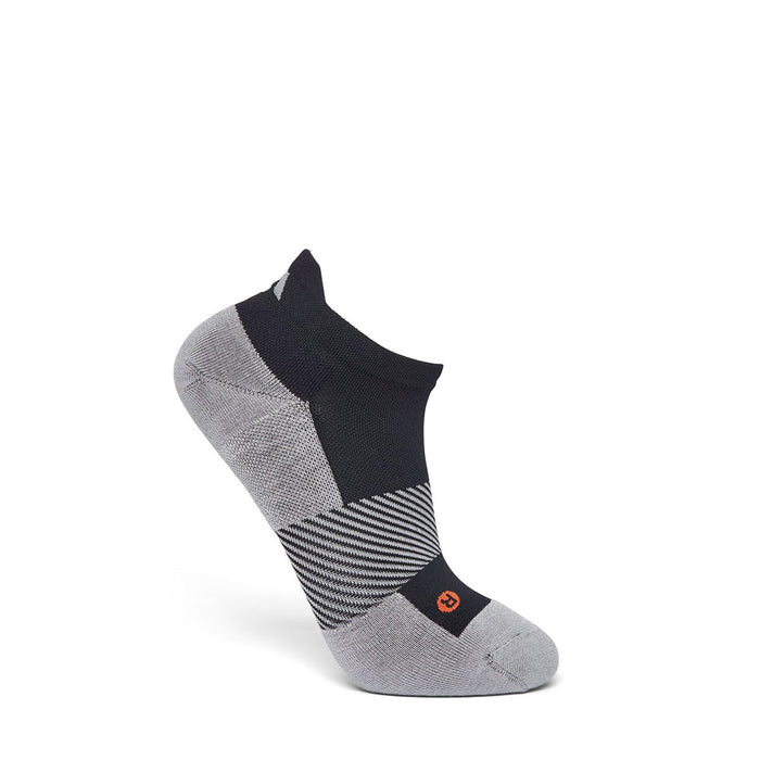 Anodyne Footwear No. 9 No Show Diabetic Socks, Black - Side Image | www.dahlmedicalsupply.com