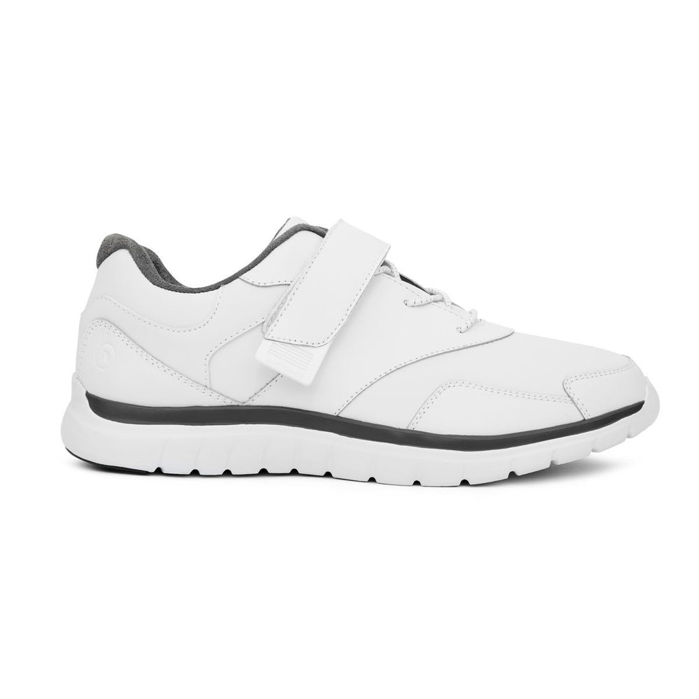Anodyne Men's No.38 Sport Walker Diabetic Shoe, White - Right Side Image