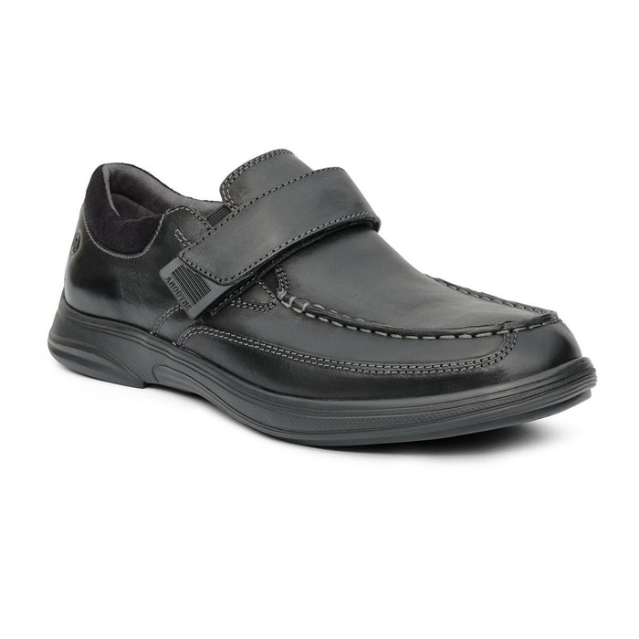 Anodyne Men's No.52 Casual Dress Therapeutic Diabetic Shoe, Black- Main View | Dahl Medical Supply