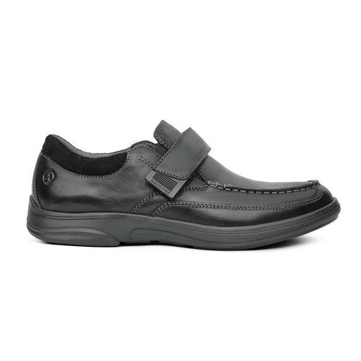 Anodyne Men's No.52 Casual Dress Therapeutic Diabetic Shoe, Black- Side View | Dahl Medical Supply