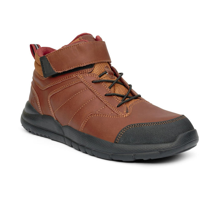 Anodyne Men's No.56 Therapeutic Diabetic Orthopedic Trail Boot, Whiskey - Front View | Dalhmedcialsupply.com