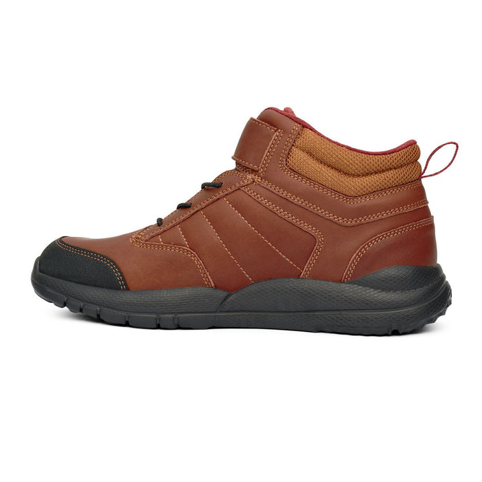 Anodyne Men's No.56 Therapeutic Diabetic Orthopedic Trail Boot, Whiskey - Flipped Side View | Dalhmedcialsupply.com