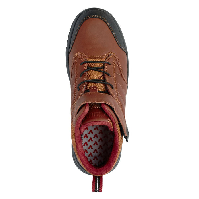 Anodyne Men's No.56 Therapeutic Diabetic Orthopedic Trail Boot, Whiskey - Top View | Dalhmedcialsupply.com
