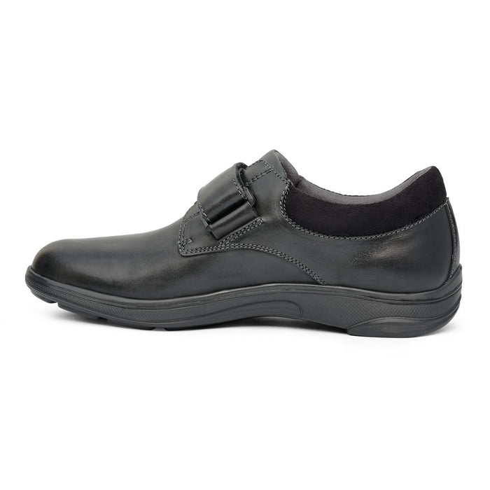 Anodyne No.64 Therapeutic Diabetic Casual Comfort Shoe, Black - side view | Dahlmedicalsupply.com