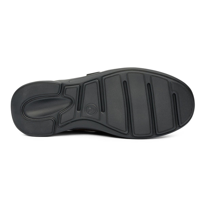 Anodyne No.64 Therapeutic Diabetic Casual Comfort Shoe, Black - bottom view | Dahlmedicalsupply.com