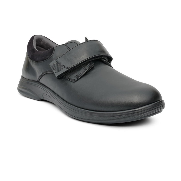 Anodyne No.66 Therapeutic Diabetic Casual Comfort Stretch Shoe, Black - front view | dahlmedicalsupply.com