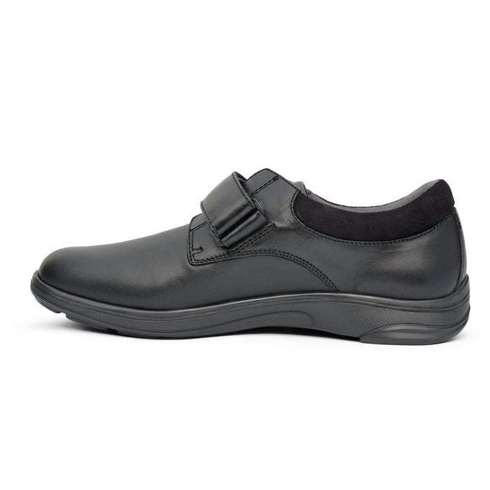 Anodyne No.66 Therapeutic Diabetic Casual Comfort Stretch Shoe, Black - side view | dahlmedicalsupply.com