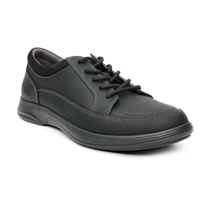 Anodyne No.72 Men's Therapeutic Diabetic Casual Sport Shoe, Oil Black - front view | dahlmedicalsupply.com