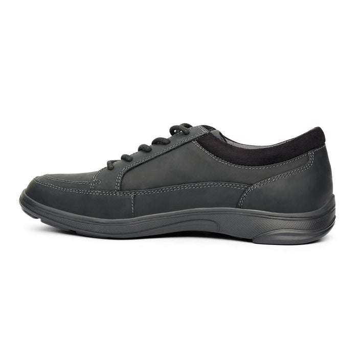 Anodyne No.72 Men's Therapeutic Diabetic Casual Sport Shoe, Oil Black - side view | dahlmedicalsupply.com