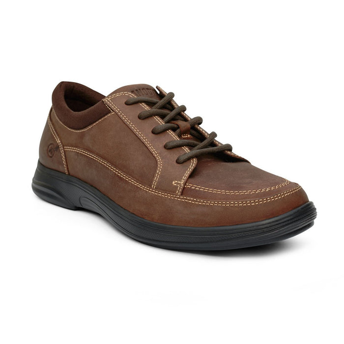 Anodyne No.72 Men's Therapeutic Diabetic Casual Sport Shoe, Oil Brown - front view | dahlmedicalsupply.com