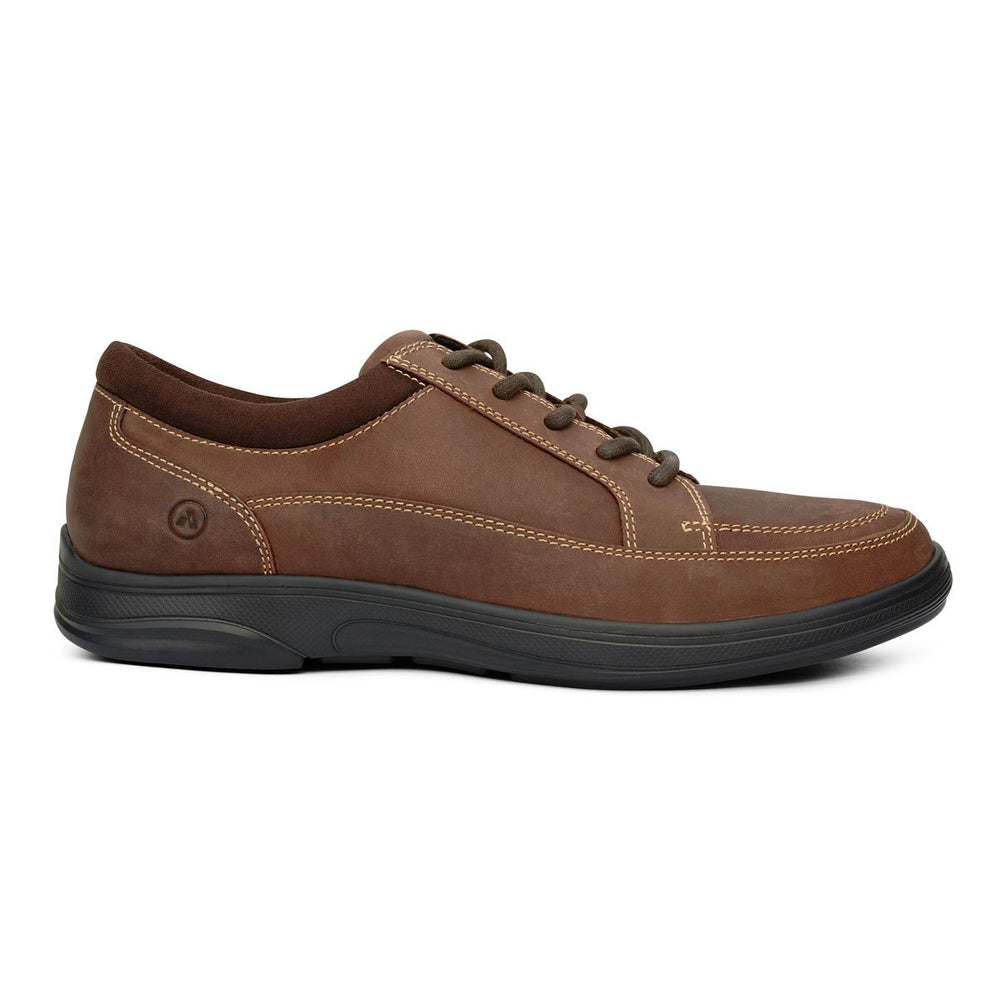 Anodyne No.72 Men's Therapeutic Diabetic Casual Sport Shoe, Oil Brown | dahlmedicalsupply.com