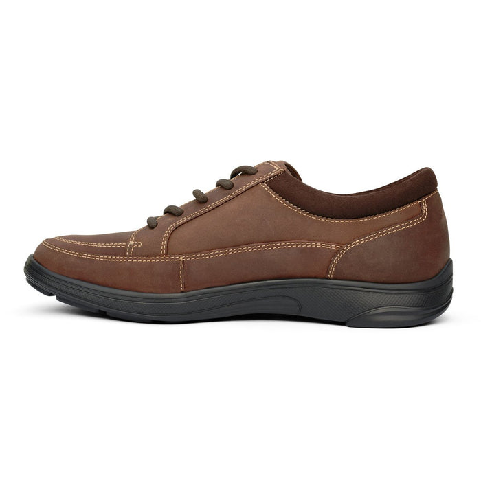 Anodyne No.72 Men's Therapeutic Diabetic Casual Sport Shoe, Oil Brown - side view | dahlmedicalsupply.com