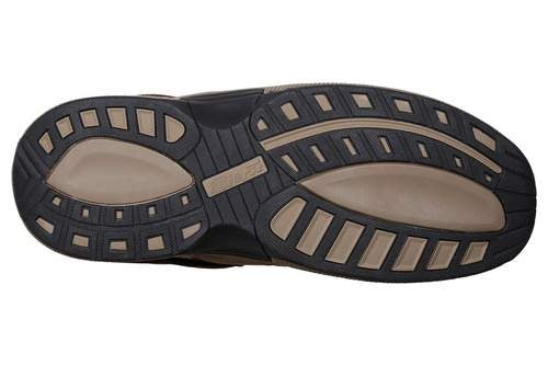OrthoFeet Men's Alpine Brown Diabetic Therapeutic Orthotic Sandals - Sole
