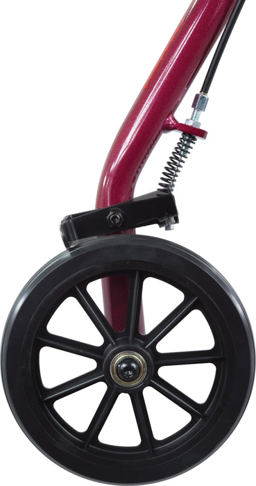 ProBasics Aluminum Rollator with 6-inch Wheels, Burgundy - Wheel Image