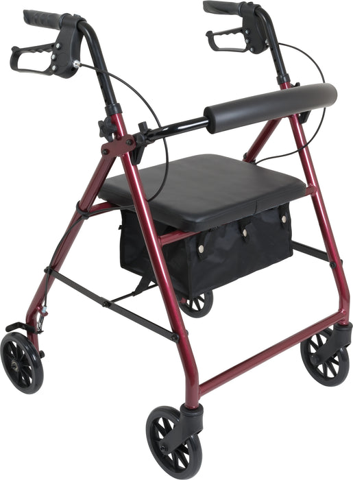 ProBasics Aluminum Rollator with 6-inch Wheels, Burgundy - Main Image