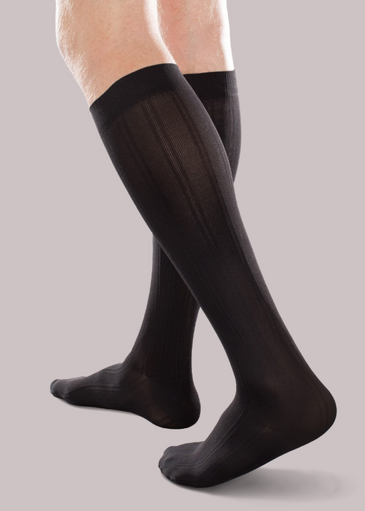 30-40mmHg* Therafirm Opaque Trouser Sock, Black | Dahl Medical Supply