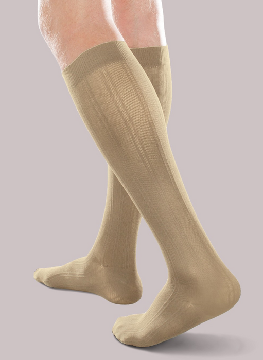 30-40mmHg* Therafirm Opaque Trouser Sock, Khaki | Dahl Medical Supply