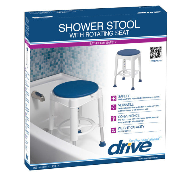 Drive Medical Swivel Seat Shower Stool RTL12061M Shipping Box