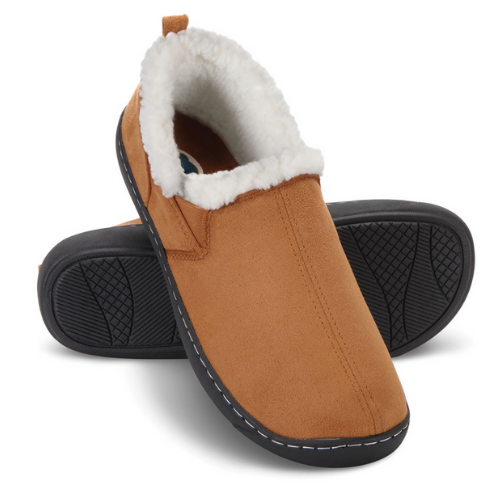 Dr.Comfort Diabetic Therapeutic Men's Indoor Outdoor Slipper, Camel