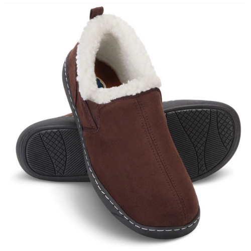 Dr.Comfort Diabetic Therapeutic Men's Indoor Outdoor Slipper, Chocolate