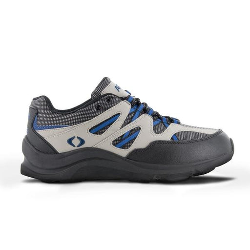 Apex Men's Sierra Diabetic Trail Runner Shoe, Gray - Side View | Dahl Medical Supply