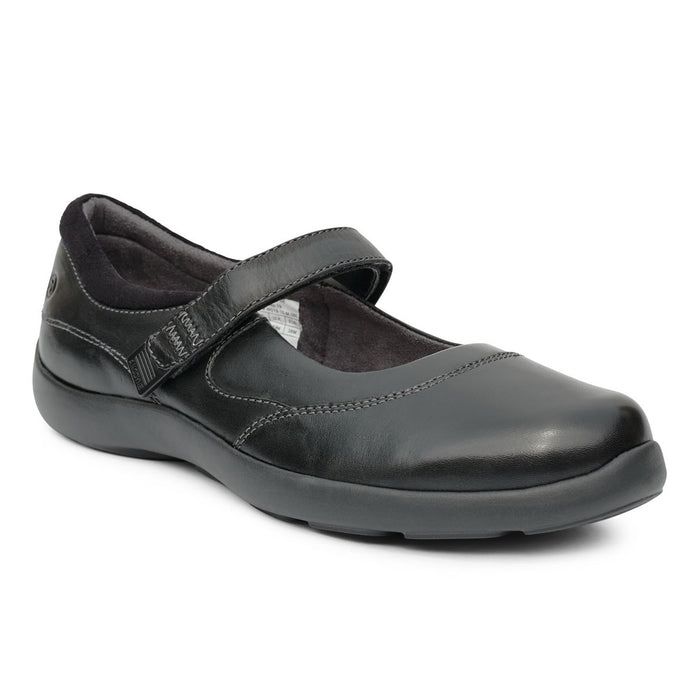 Diabetic Casual Mary Jane Shoe for Women, Black - Main Image | No. 19 | Anodyne