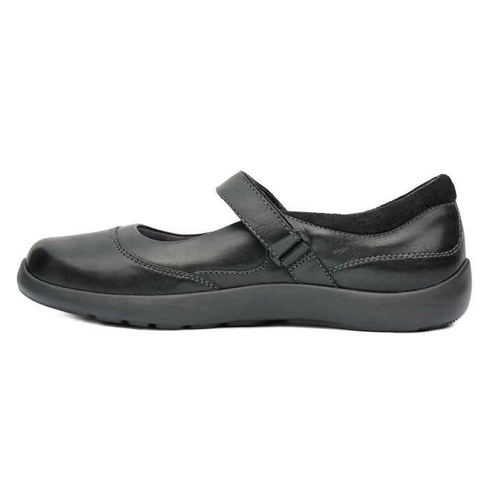 Diabetic Casual Mary Jane Shoe for Women, Black - Left Side Image | No. 19 | Anodyne