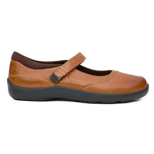 Diabetic Casual Mary Jane Shoe for Women, Cognac - Right Side Image | No. 19 | Anodyne