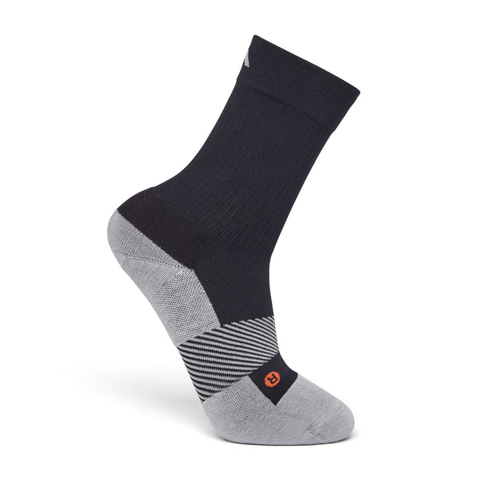 Anodyne Footwear No. 7 Crew Length Diabetic Socks, Black - Side Image | www.dahlmedicalsupply.com