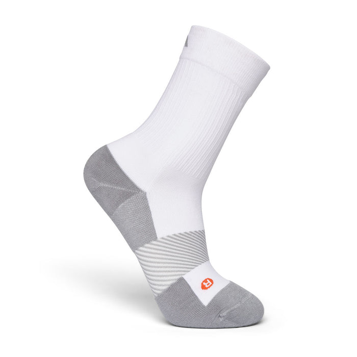 Anodyne Footwear No. 7 Crew Length Diabetic Socks, White - Side Image | www.dahlmedicalsupply.com