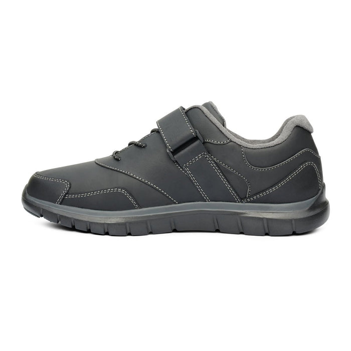 Anodyne Women's No.31 Therapeutic Diabetic Sport Walker Shoe, Black - Left Side Image | Dahl Medical Supply