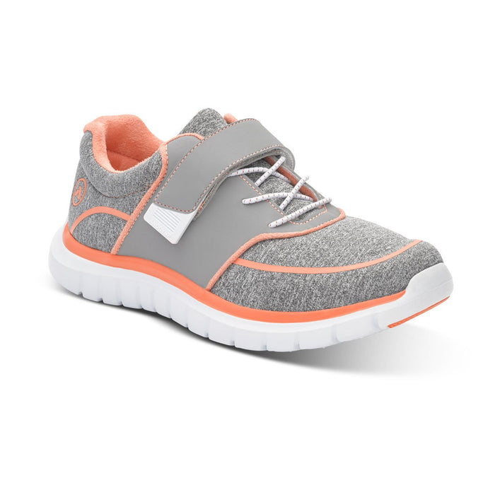 Anodyne Women's No.45 Therapeutic Diabetic Sport Jogger, Grey/Orange - Main Image | Dahl Medical Supply