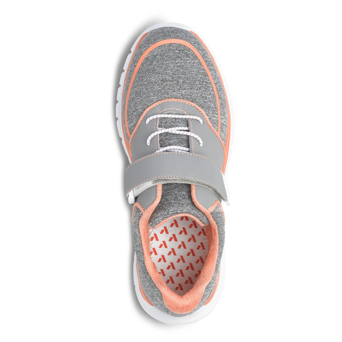 Anodyne Women's No.45 Therapeutic Diabetic Sport Jogger, Grey/Orange - Top Image | Dahl Medical Supply