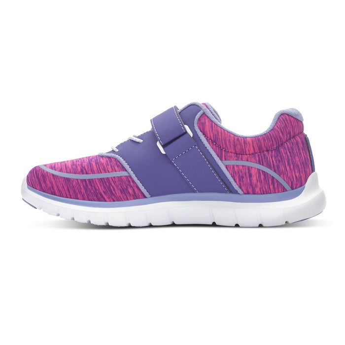 Anodyne Women's No.45 Diabetic Sport Jogger, Purple/Pink - Left Side Image | Dahl Medical Supply