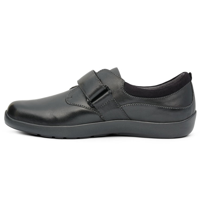 Anodyne No.67 Therapeutic Diabetic Casual Comfort Shoe, Black - side view | dahlmedicalsupply.com