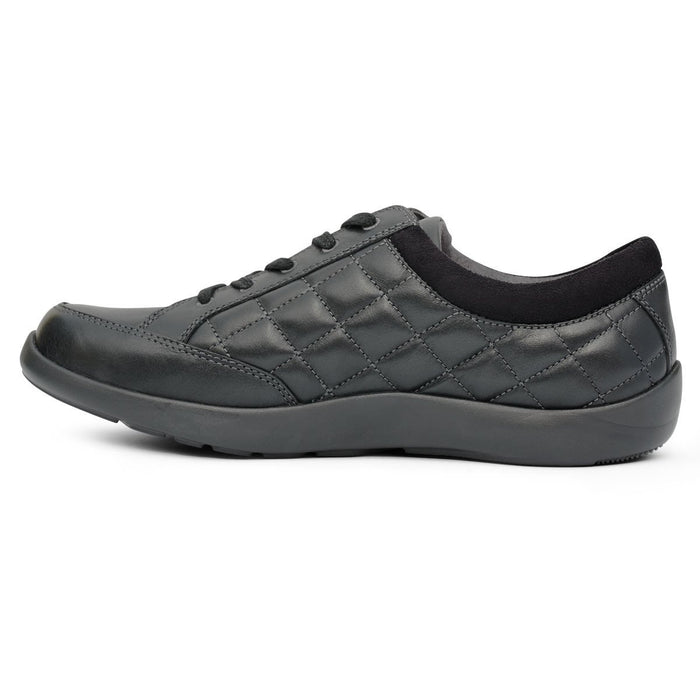 Anodyne No.75 Women's Therapeutic Diabetic Casual Sport Shoe, Black - side view | dahlmedicalsupply.com