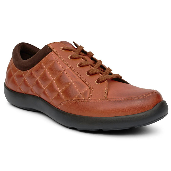 Anodyne No.75 Women's Therapeutic Diabetic Casual Sport Shoe, Saddle - front view | dahlmedicalsuppy.com