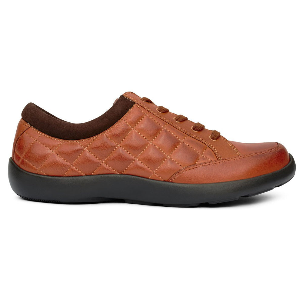 Anodyne No.75 Women's Therapeutic Diabetic Casual Sport Shoe, Saddle | dahlmedicalsuppy.com