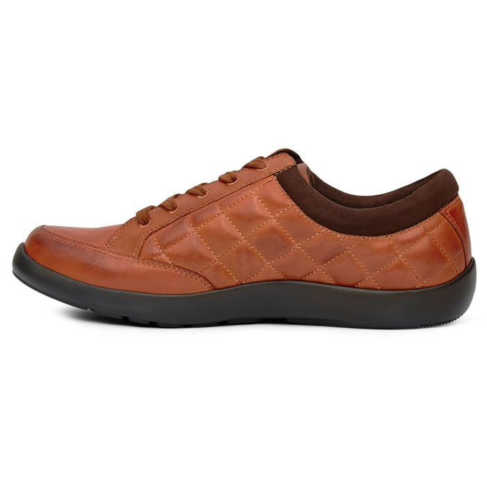 Anodyne No.75 Women's Therapeutic Diabetic Casual Sport Shoe, Saddle - side view | dahlmedicalsuppy.com