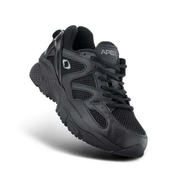 Apex Men's Boss Runner Diabetic Athletic Shoe, Black - Top Image | Dahl Medical Supply