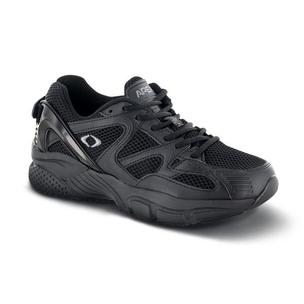 Apex Men's Boss Runner Diabetic Athletic Shoe, Black - Main Image | Dahl Medical Supply