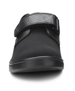 Dr. Comfort Annie X Double Depth Women's Diabetic Shoe, Black - Front View | Dahl Medical Supply